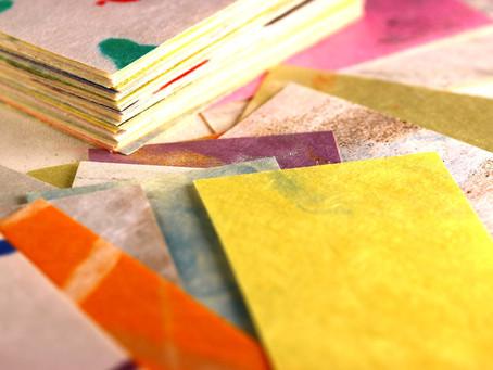 襖(ふすま)紙で名刺を作る