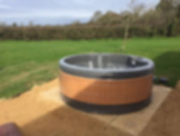 eazy hot tub long term hire rotospa orbis garden party hot tub disco lights barnsley rotherham sheffiled doncaster wath wakefield rotospa pontefract yorkshire south solid hot tub field country jets powerfull massage relax weekend lease brown