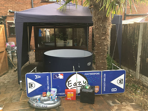 eazy hot tub hire rotherham hire a hot tub sheffield barnsley wakefield doncaster chesterfield party hire a hot tub rent inflatable jacuzzi birthday eazy beer pong disco lights spa bar summrwinter microphone karaoki