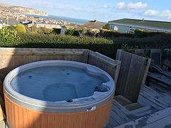 eazy hot tub hire delivery wrapped with cover portable rotherham sheffield barnsley wakefield doncaster party hire a hot tub rent inflatable birthday hire free delivery hot tub outside view