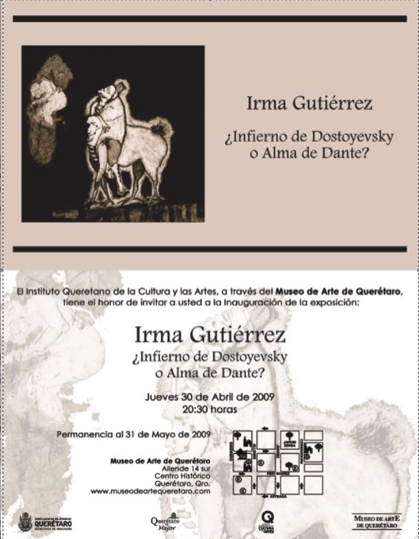 Invitation Museo de Arte Queretaro