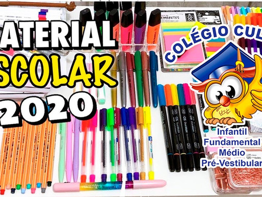 LISTA DE MATERIAL ESCOLAR 2020