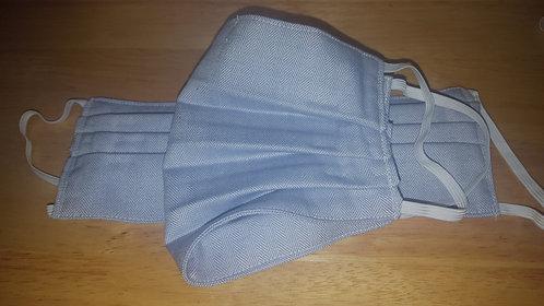 Blue Twill Cotton Mask - Adult
