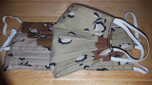 Desert Camo Cotton Mask - Adult