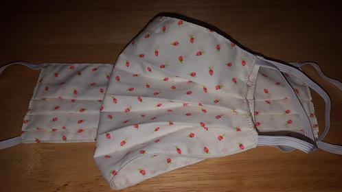 Pink Rosebud Cotton Mask - Adult