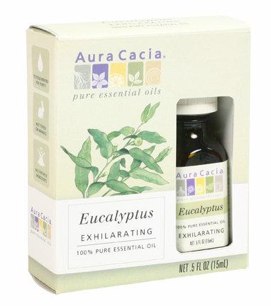 Eucalyptus (G, in box), Essential Oil, 0.5 oz.