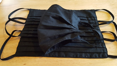 Black Cotton Mask - Adult