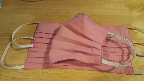 Pink Cotton Mask - Adult