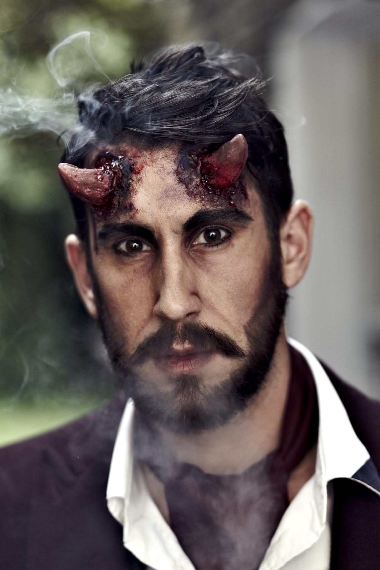 Devil smoking