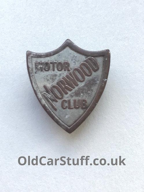 Norwood Motor Club vintage badge