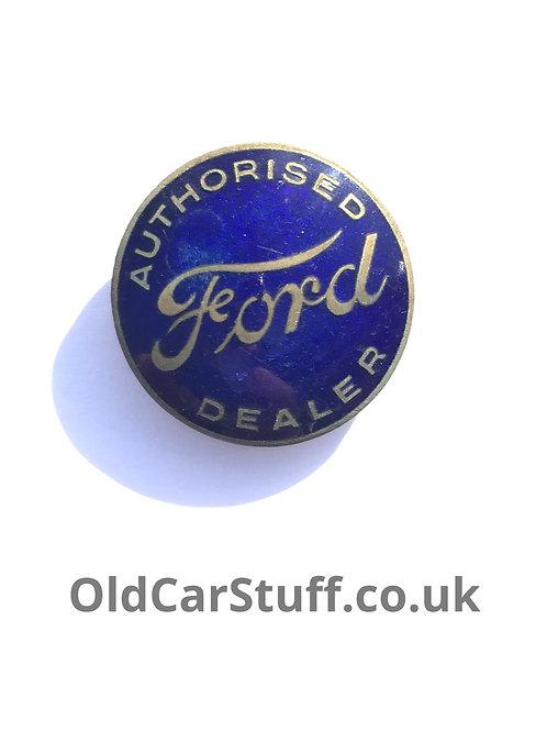 Ford dealer enamel badge