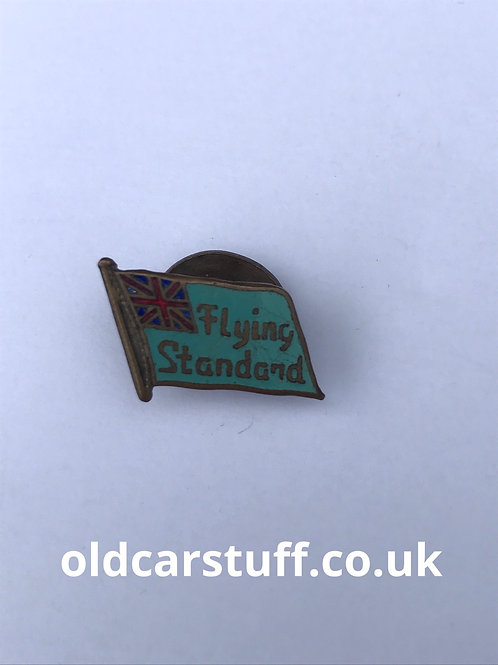 Flying standard enamel car club badge