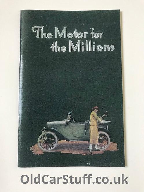 Austin Seven motor for the millions