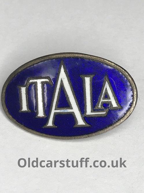 Itala enamel car pin badge
