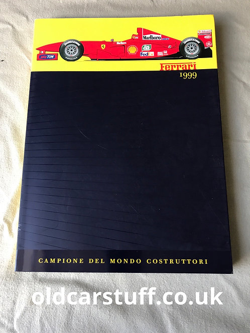 Official Ferrari F1 1999 Yearbook Champion