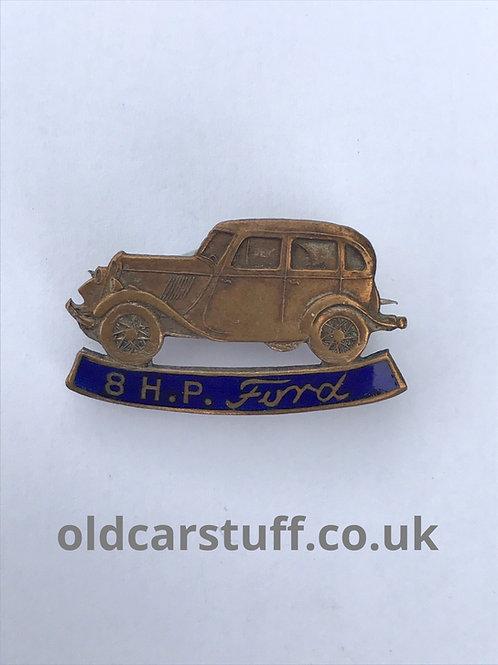 8HP Ford enamel car pin badge