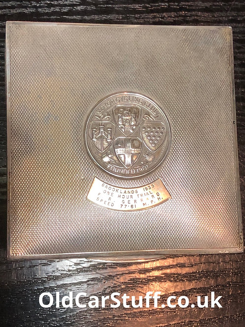 Mr Bob Gerard Brooklands Trial 1935 Cigarette Case Award