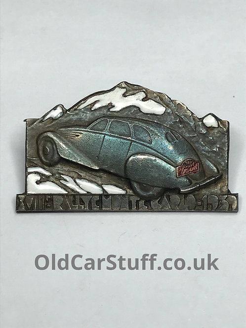 Monte Carlo vintage car badge enamel