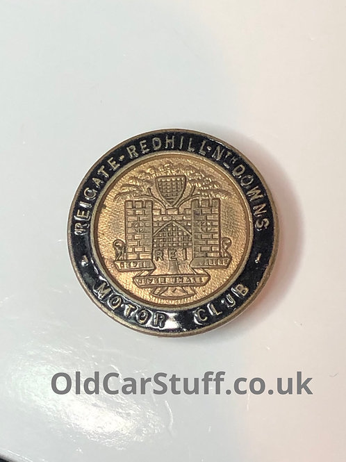 Reigate Redhill North Downs enamel Motor Club badge