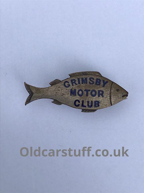 Grimsby motor club pin badge fish shaped Birmingham