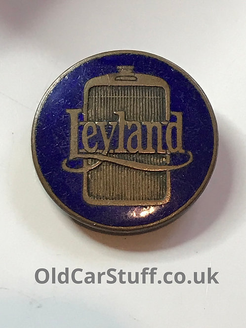 Leyland commercial enamel badge