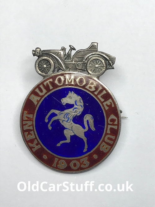 Kent Automobile Members card club badge
