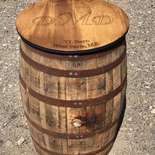 whiskey barrel custom table topper sales