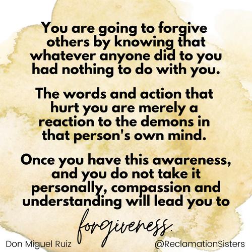 compassion, understanding, forgiveness