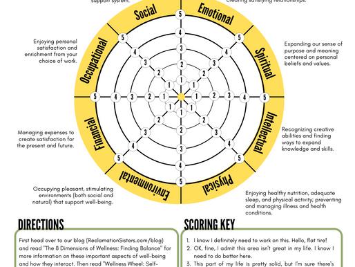 Wellness Wheel: Self-Assessment & Worksheet