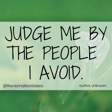 people I avoid