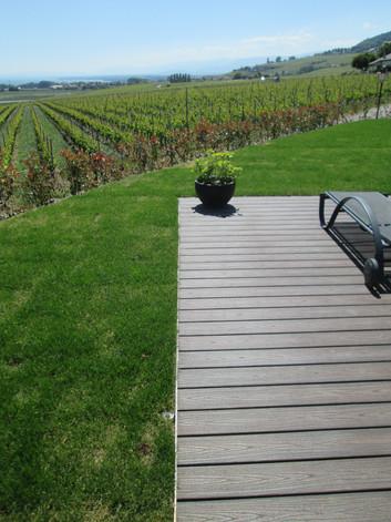 Jardin avec vue sur vigne