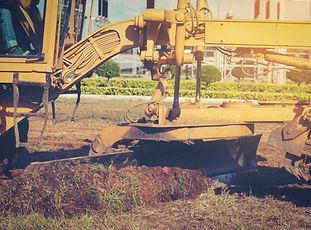 machine sur terrain
