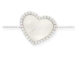 Bracelet Coeur Or B / Nacre