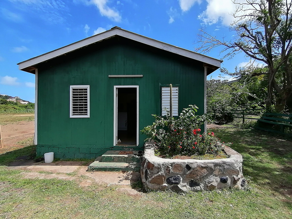 One of the buildings at Sandy Hoofs St. Lucia where the tack for horseback riding was kept.
