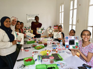 Mosaic Workshop at Awlady Orphanage