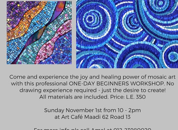 Art Café Abstract Mosaic Workshop.