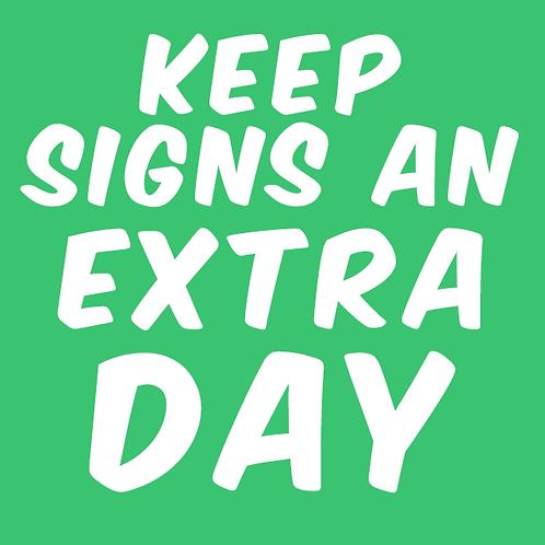 Add Extra Day