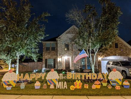 katy texas birthday yard signs