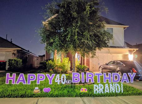 katy texas birthday yard sign