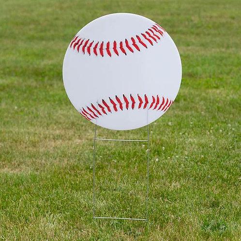 1 ft. 10 in. Baseball Yard Sign