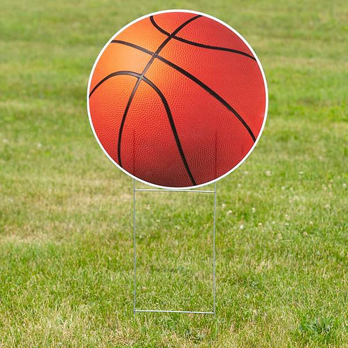 1 ft. 10 in. Basketball Yard Sign