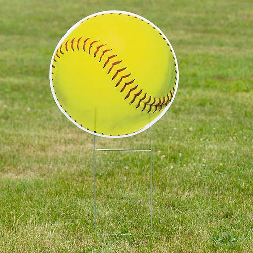 1 ft. 10 in. Softball Yard Sign