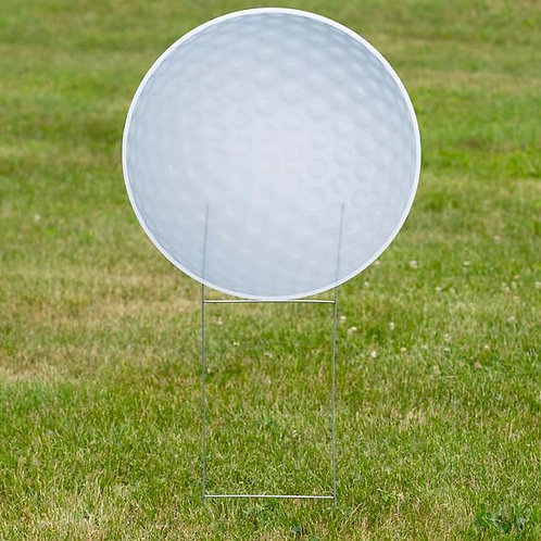 1 ft. 10 in. Golf Ball Yard Sign