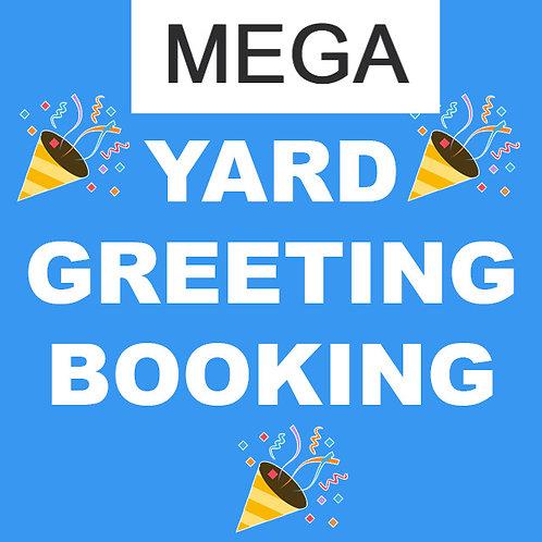 Mega Birthday Yard Greeting