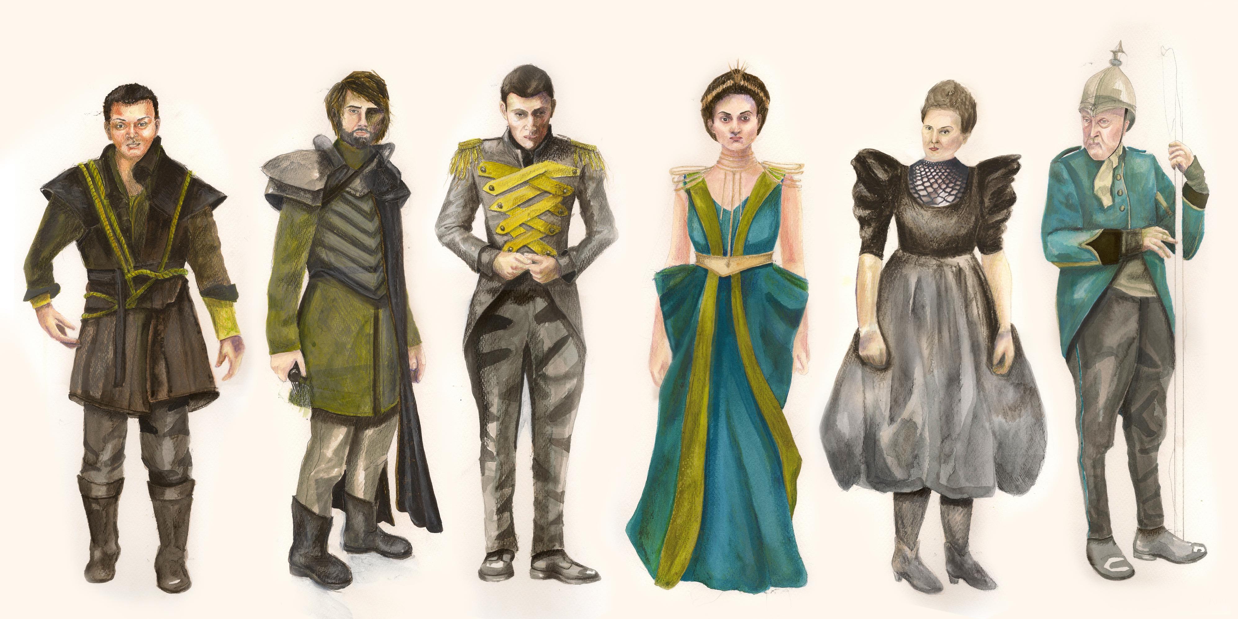 Pia De' Tolomei Costume Designs