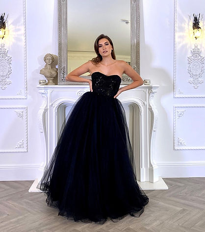 Pia Michi Black Ball Gown