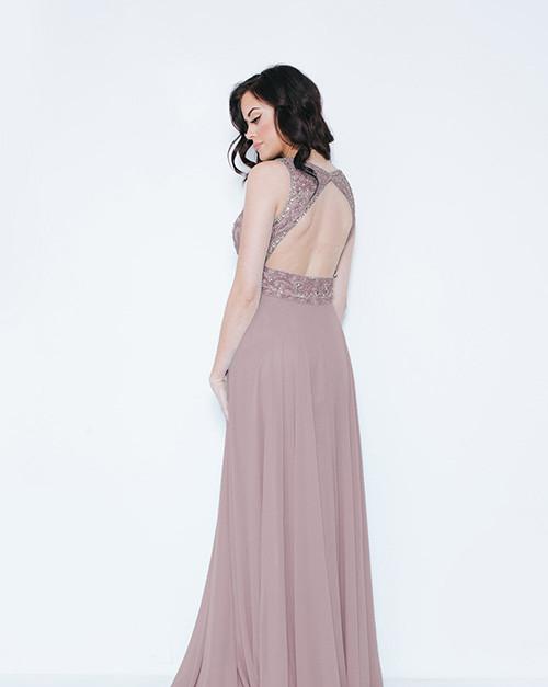Dynasty London | Kayanna Peony Pink Long Dress with Scarf 1023405