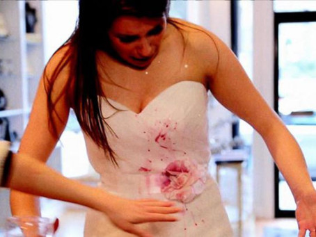 How to get stains out of your dream dress!