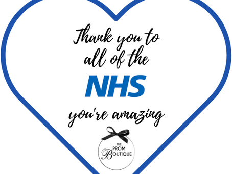 The Prom Boutique would like to say a huge THANK YOU to all the staff at the NHS with a Prize Draw.