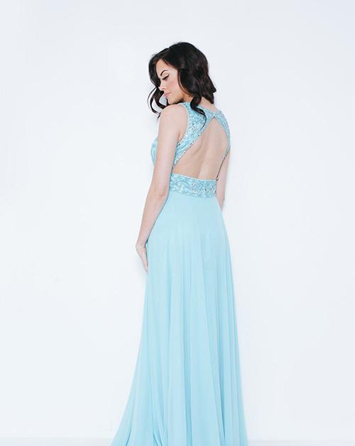 Dynasty London | Kayanna Light Tiffany Long Dress with Scarf 1023405
